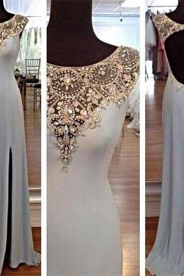 crystal prom dresses, side slit prom dresses, mermaid prom dresses, beaded prom dresses, new arrival prom dresses, evening dresses, crystal party dresses, evening dresses, beaded evening gowns, formal dresses