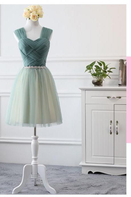 green prom dresses, tulle prom dresses, tulle bridesmaid dresses, sweetheart bridesmaid dresses, a line bridesmaid dresses, 2020 bridesmaid dresses, mini bridesmaid dress, mint bridesmaid dress, cheap bridsmaid dress, 2020 wedding party dresses, cheap party dresses, sexy bridesmaidd dresses
