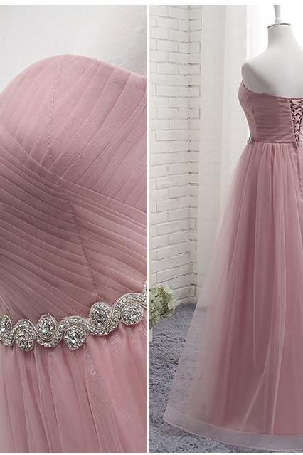 pink bridesmaid dresses, 2020 bridesmaid dresses, sweetheart bridesmaid dresses, a line bridesmaid dresses, tulle bridesmaid dresses, arabic bridesmaid dresses, 2020 prom dresses, tulle evening dresses, fashion bridesmaid dresses, custom make evening dresses, fashion evening gowns