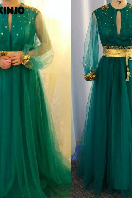 blue prom dresses, belt prom dresses, tulle prom dress, long sleeve prom dress, lace prom dresses, a line prom dresses, 2020 prom dresses, arabic prom dresses, cheap prom dresses, custom make prom dresses, arabic evening gowns, real picture prom dress, formal dress, evening gowns