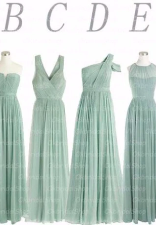 sage bridesmaid dresses, a line prom dresses, long prom dresses, long bridesmaid dress, green bridesmaid dresses, chiffon bridesmaid dresses, a line bridesmaid dresses, 2020 bridesmaid dress, cheap evening dresses, pleats bridesmaid dresses