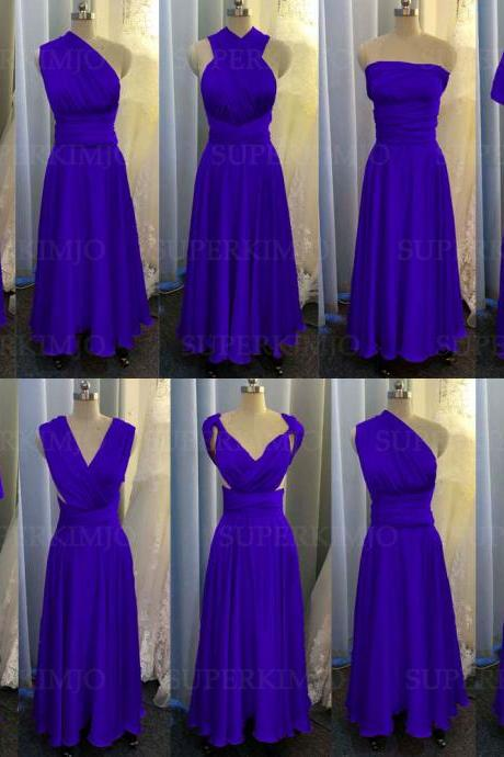 royal blue bridesmaid dress, blue evening dresses, chiffon wedding party dresses, evening gowns, convertible bridemsaid dress, chiffon bridesmaid dress, long bridesmaid dress, custom make bridesmaid dress, cheap bridesmaid dresses,new arrival bridesmaid dress, 2020 bridesmaid dresses, sexy bridesmaid dress