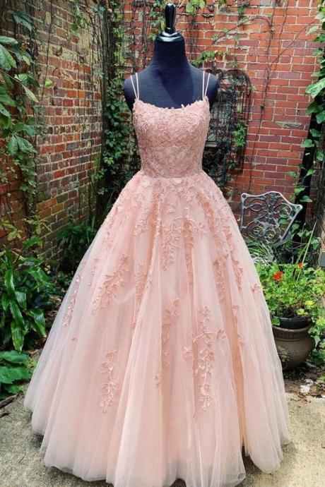 pink prom dresses , 2020 lace evening dresses, ball gown formal dresses, lace evening dresses, ball gown evening dresses, new arrival party dresses, sexy evening dresses, pink party dresses