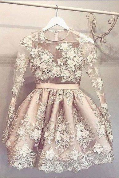 champagne prom dresses, lace prom dresses, crew neck prom dresses, long sleeve formal dresses, 2021 evening dresses, party dresses, flowers prom dresses, arabic party dresses, evening dresses, fashion evening dress, cheap party dresses, lace evening dresses