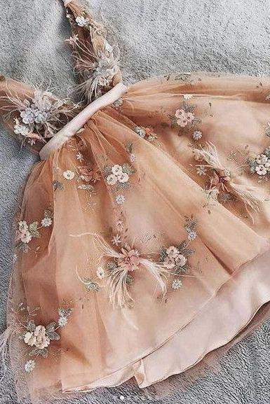 champagne prom dresses 2021, deep v neck prom dress, flowers evening dress, tulle evening dresses, new arrival party dress, sexy formal dresses, cheap evening dresses, 2021 party dresses, evening gowns, cheap evening dresses, new arrival evening dress, sexy formal dress