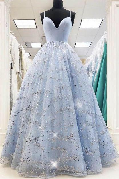 light sky blue prom dress, sweetheart prom dresses, sparkly evening dresses, 2021 evening dresses, shinning evening dresses, formal dresses, tulle evening dresses, new arrival evening dresses, cheap party dresses