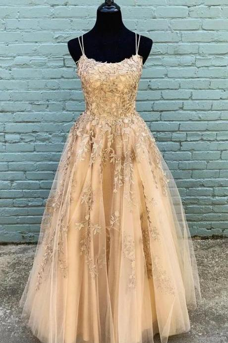 lace prom dress, champagne prom dresses, a line prom dresses, lace evening dresses, cheap formal dresses, arabic party dresses, new arrival party dress, sexy evening gowns, backless party dresses