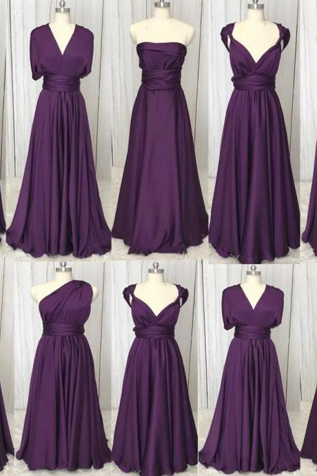 bridesmaid dresses, Convertible bridesmaid dress, custom make bridesmaid dress, fashion bridesmaid dress, cheap bridesmaid dress, purple bridesmaid dress, Brautjungfernkleid, new arrival bridesmaid dress, cheap wedding party dress, 2021 bridesmaid dresses