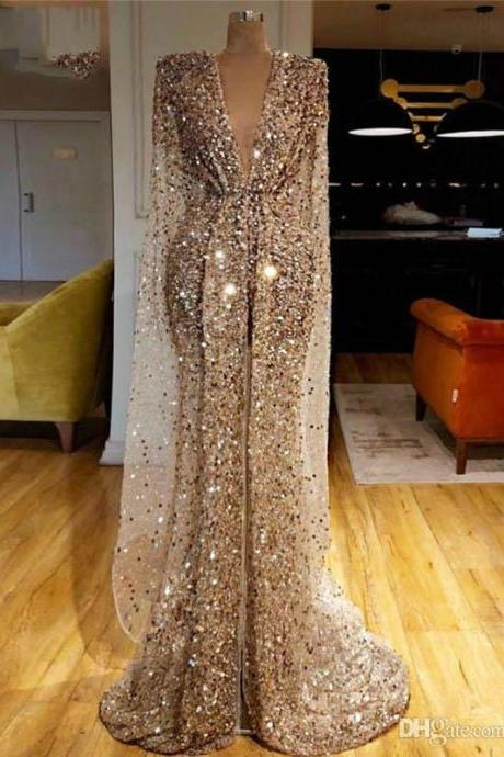 gold prom dresses, long sleeve prom dresses, sparkly prom dresses, mermaid evening dresses, cheap prom dresses, custom make prom dresses, arabic prom dresses, 2021 prom dresses, sexy evening gowns