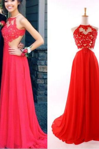 Halter Red Prom Dress, Lace Prom Dress, Sexy Prom Dress, Elegant Prom Dress, Backless Prom Dress, Long Prom Dress, Real Photo Prom Dress, High Quality Prom Dress, 2016 Prom Dresses