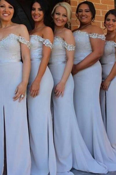 Mermaid Bridesmaid Dress, Long Bridesmaid Dress, Lace Bridesmaid Dress, Cap Sleeve Bridesmaid Dress, Cheap Bridesmaid Dress, Sexy Bridesmaid Dress, Wedding Guest Dresses 2017