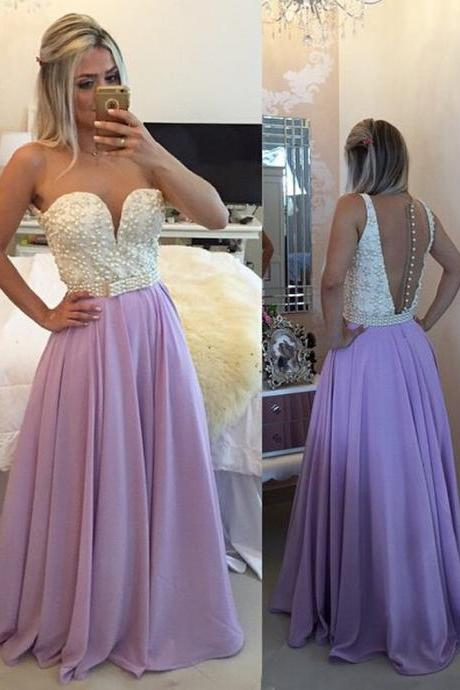 Purple Prom Dress, Peals Prom Dress, Long Prom Dress, Chiffon Prom Dress, Sexy Prom Dress, Elegant Prom Dress, Cheap Prom Dress, Formal Party Dress, Prom Dresses 2017