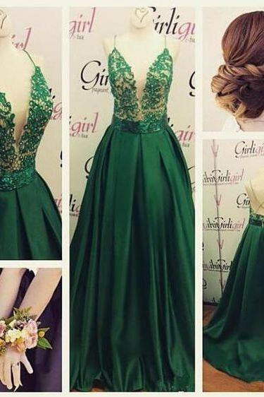 e84bfd8b8edf Hunter Green Evening Dress | Luulla