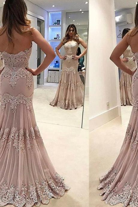 Hot Sale Prom Dresses, Sweetheart Prom Dresses, Mermaid Evening Gowns, Pink Prom Dress, Lace Evening Dress, Vintage Wedding Dress, Court Train Evening Dress, Mermaid Party Dresses, Special Occasion Dresses, 2017 Party Dresses. Fashion Women Party Dresses