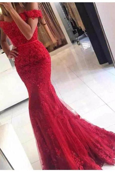 Burgundy Prom Dress, Lace Applique Prom Dress, Mermaid Prom Dress, Elegant Prom Dress, Long Prom Dress, Custom Prom Dress, Cheap Prom Dress, Vestido De Festa De Longo, Evening Dresses 2017