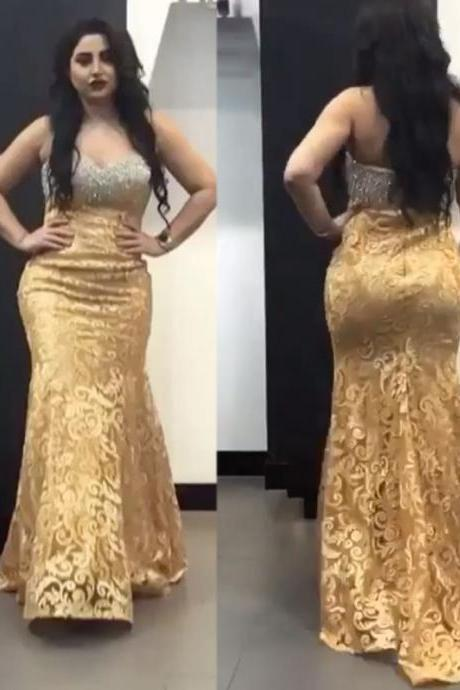 Mermaid Evening Dresses, Lace Prom Dresses, Yellow Prom Dresses, Sweetheart Prom Dresses, Fashion Evening Dresses, New Arrival Prom Dresses, 2017 Prom Dresses, Lace Prom Dresses, Arabic Prom Dresses, Yellow Evening Dresses, Custom Make Evening Dresses