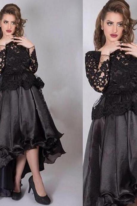 Cheap Prom Dresses, Black Prom Dresses, Long Sleeve Prom Dresses, Lace Prom Dresses, A Line Prom Dresses, Long Sleeve Prom Dresses, Organza Prom Dresses, Black Prom Dress, High Front and Low Back Prom Dresses, 2017 Evening Dresses, Sexy Evening Gowns,Black Evening Dresses. Sexy Formal Party Dresses, 2017 Party Dresses. Special Occasion Dresses, Women Party Dresses, Arabic Women Evening Dresses