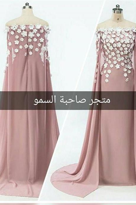 A Line Prom Dresses, Mermaid Prom Dresses, Hand Made Flowers Prom Dresses, Prom Dresses With Jacket , 3D Flowers Prom Dresses, Mermaid Formal Dresses, Hand Made Flowers Evening Dresses, Pink Party Dresses, Arabic Formal Dresses, Sexy Evening Gowns