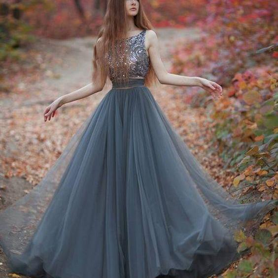 Crystal Prom Dresses, Grey Prom Dresses, Lace Prom Dresses, Two Pieces Prom Dresses,Elegant Prom Dresses, Two Pieces Evening Gowns, Arabic Evening Dresses, 2017 Elegant Formal Party Dresses, Tulle Prom Dresses, A Line Prom Dresses, Floor Length Evening Dress, New Arrival Evening Gowns, Cheap Party Dresses, Women Summer Dresses