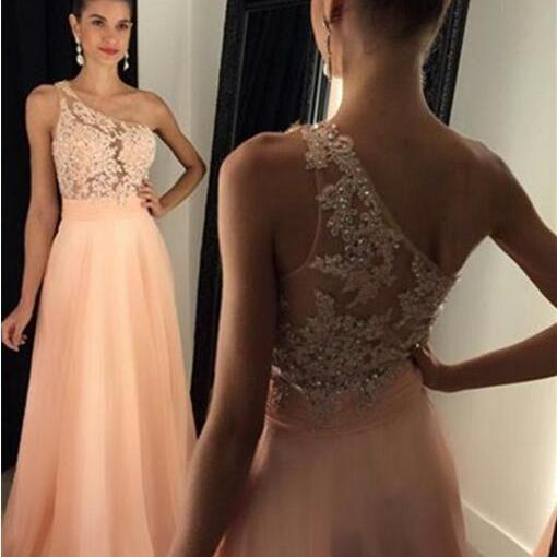One Shoulder Prom Dresses, Coral Evening Dresses, Lace Party Dresses, Crystal Evening Gowns, Chiffon Party Dresses, Lace Evening Gowns Dresses, Cheap Formal Dresses, Evening Dresses For Sale, Custom Make Evening Dresses, Arabic Evening Gowns, Floor Length Evening Dress, 2017 Evening Dresses, New Arrival Evening Dress, Cheap Party Dresses