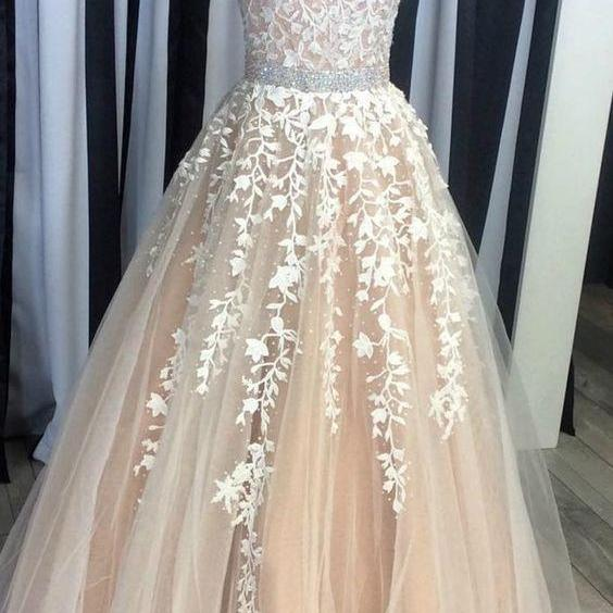 Strapless Neckline Prom Dresses, Lace Prom Dresses, Pearls Prom Dresses, Cheap Prom Dresses, A Line Prom Dresses, Arabic Evening Dresses, Fashion Evening Dresses, Lace Evening Gowns, 2017 Prom Dresses, Blush Prom Dresses, Tulle Prom Dresses, Strapless Prom Dresses, 2017 Vestidos de Fiesta, New Arrival Evening Dresses, Lace Party Dresses, Women Cheap Evening Dresses