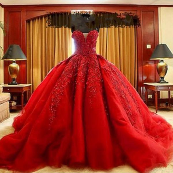 ball gown prom dresses, sweetheart prom dresses, beaded prom dresses, red prom dresses, ball gown evening dresses, red evening dresses, red formal dresses, 2020 prom dress, lace prom dresses, lace evening dresses, 2020 party dresses, arabic party dresses, ball gown evening gowns, cheap formal dresses, cheap evening gowns, long evening dresses, lace evening gowns, evening dress