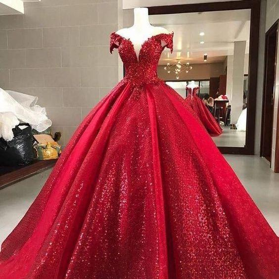 sparkly prom dresses, ball gown prom dresses, sweetheart prom dresses, sequins prom dresses, red evening dresses, ball gown evening dresses, red prom dresses, bling bling evening dresses, arabic prom dresses, sequins evening gowns, 2020 prom dresses, fashion prom dress, arabic prom dress, red evening dresses, puffy evening gowns, custom make prom dress, cheap party dresses, arabic formal dress