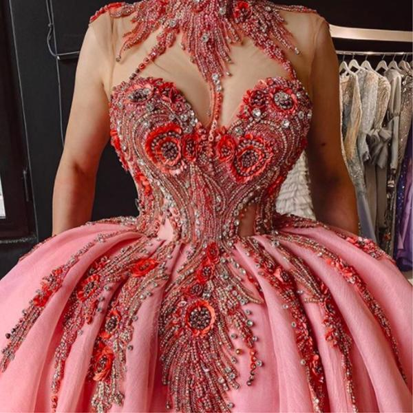 pearls prom dresses 2021, high neck prom dresses, beaded prom dresses, sexy evening dresses, fashion party dresses, cheap evening dresses, custom make evening dresses, 2021 prom dresses, beaded evening dresses
