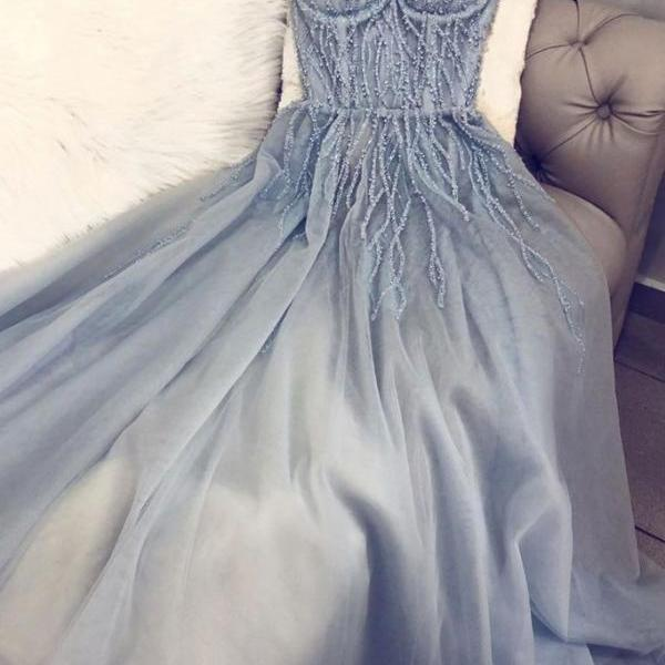 blue prom dresses, beaded prom dresses, pearls prom dresses, tulle evening dresses, blue formal dresses, a line evening dresses, arabic party dresses, evening gowns, party dresses, a line evening dress, pearls evening dresses