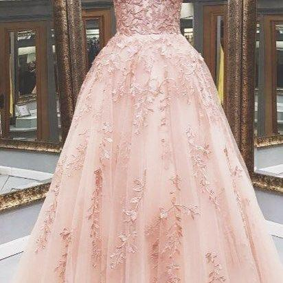 lace prom dresses, custom make prom dresses, tulle prom dresses, 2021 prom dress, tulle evening dresses, fashion prom dresses, new arrival prom dresses, pink prom dresses