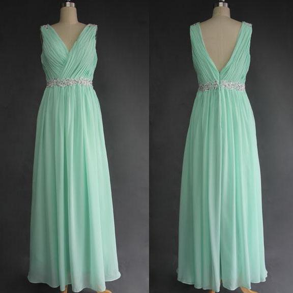 Mint Green Prom Dress, V Neck Prom Dress, Long Prom Dress, Off Shoulder Prom Dress, Cheap Prom Dress, Gorgeous Prom Dress, Charming Prom Dress, Applique Prom Dress, Chiffon Prom Dress